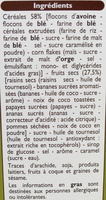Muesli Croustillant aux fruits - Ingrediënten - fr