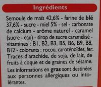 Top Miel - Ingrédients - fr