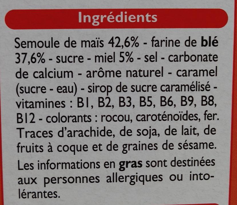 Top Miel - Ingrediënten - fr