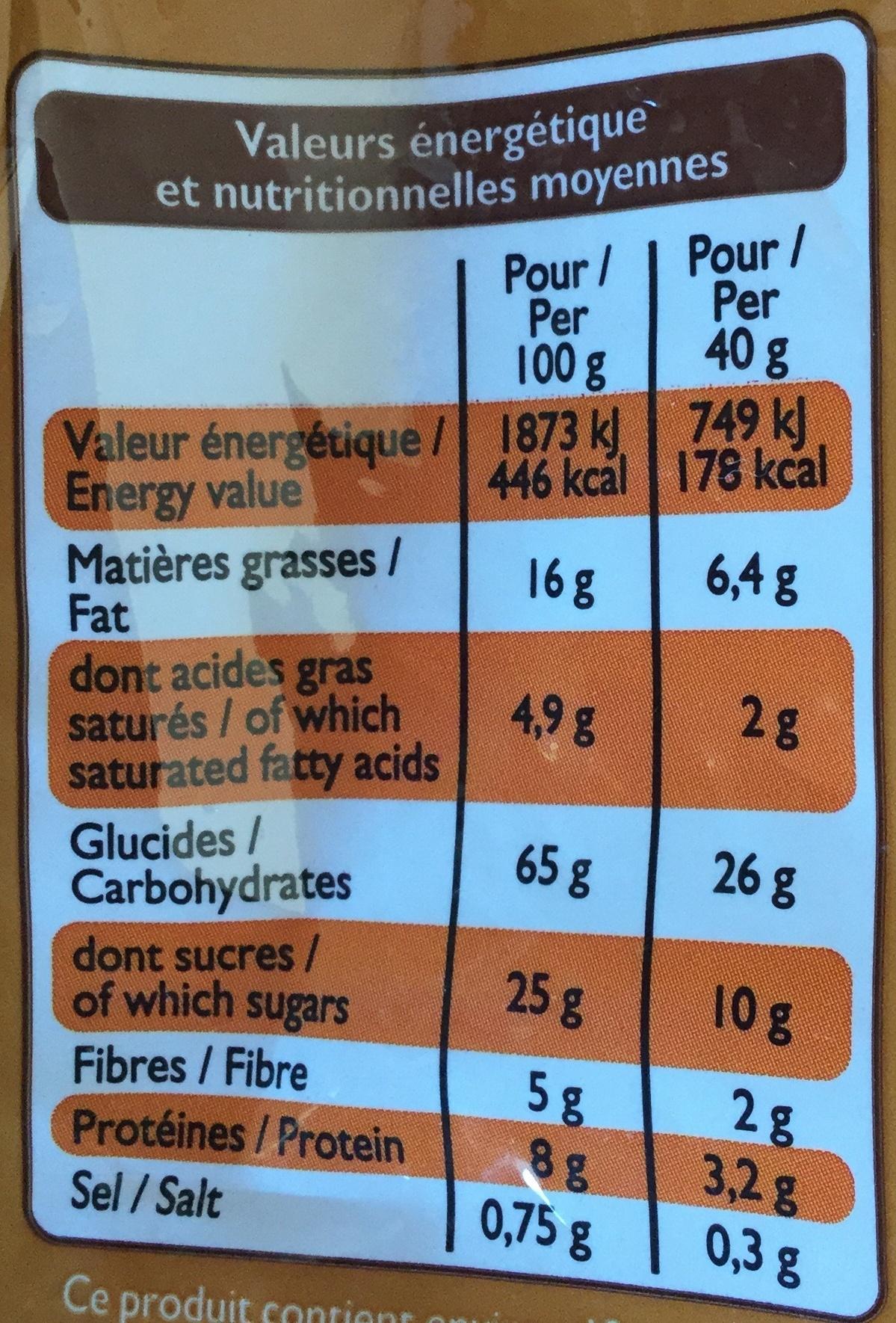 Muesli croustillant aux 3 chocolats - Informations nutritionnelles - fr