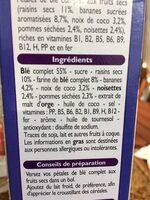 Fruits & fibres - Ingredienti - fr