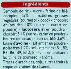 TOP CAO fourré au Chocolat - Ingredients - fr