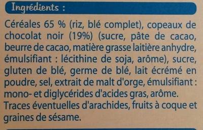 Riz et blé complet chocolat - Fine ligne - Ingredienti - fr