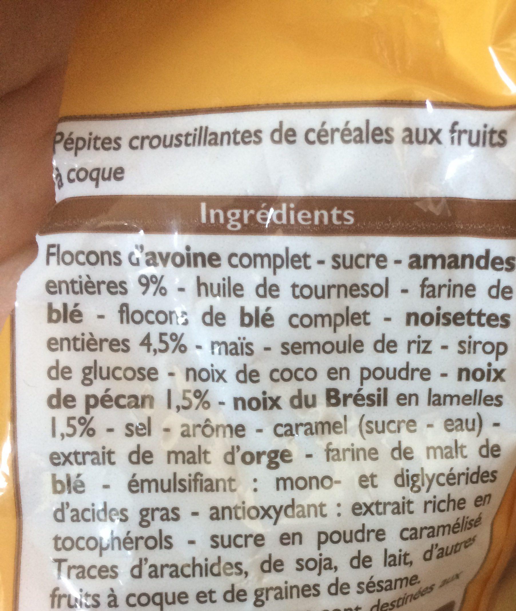 Muesli croustillant aux noix - Ingrédients
