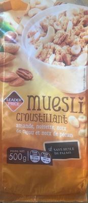 Muesli croustillant, amande, noisette, noix de cajou et noix de pécan - Produit