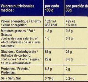 Riz Soufflé Goût Chocolat - Nutrition facts