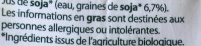 Boisson au soja nature - Ingredients