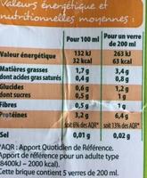 Boisson au soja nature - Nutrition facts