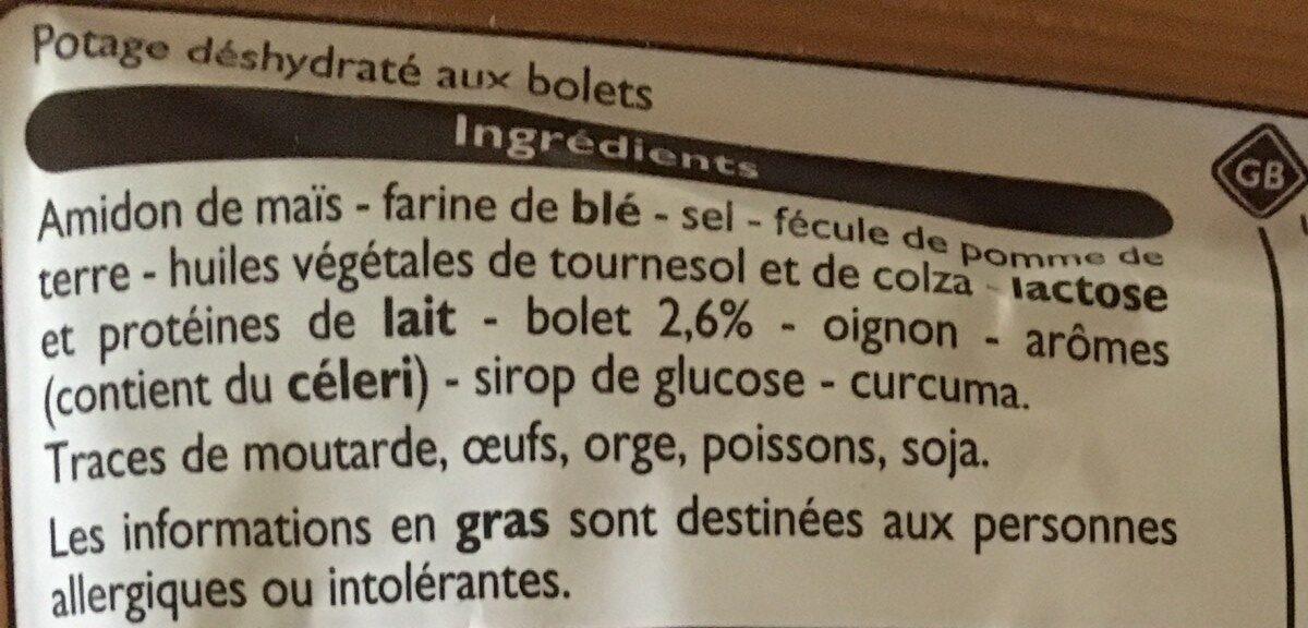 Velouté de bolets - Ingredients - fr
