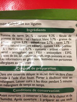 Soupe moulinée aux 9 légumes - Ingredients - fr