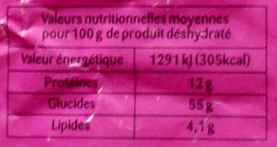 Soupe Exotique - Chinoise aux 7 parfums - Informations nutritionnelles - fr