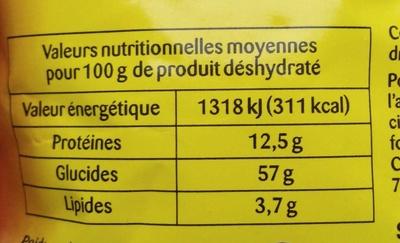 Gratinée à l'oignon - Informations nutritionnelles - fr