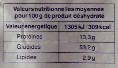 Sauce au Poivre Vert - Informations nutritionnelles
