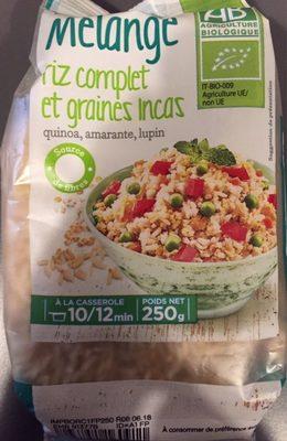 Mélange riz complet et graines Incas - Product