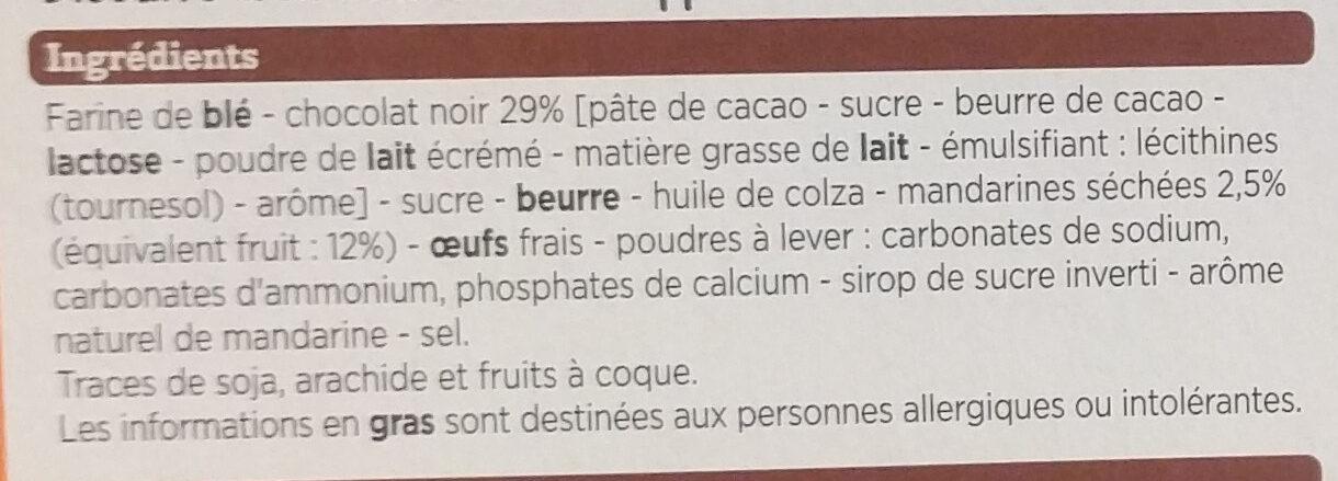 Biscuits Mandarine - Ingrédients - fr
