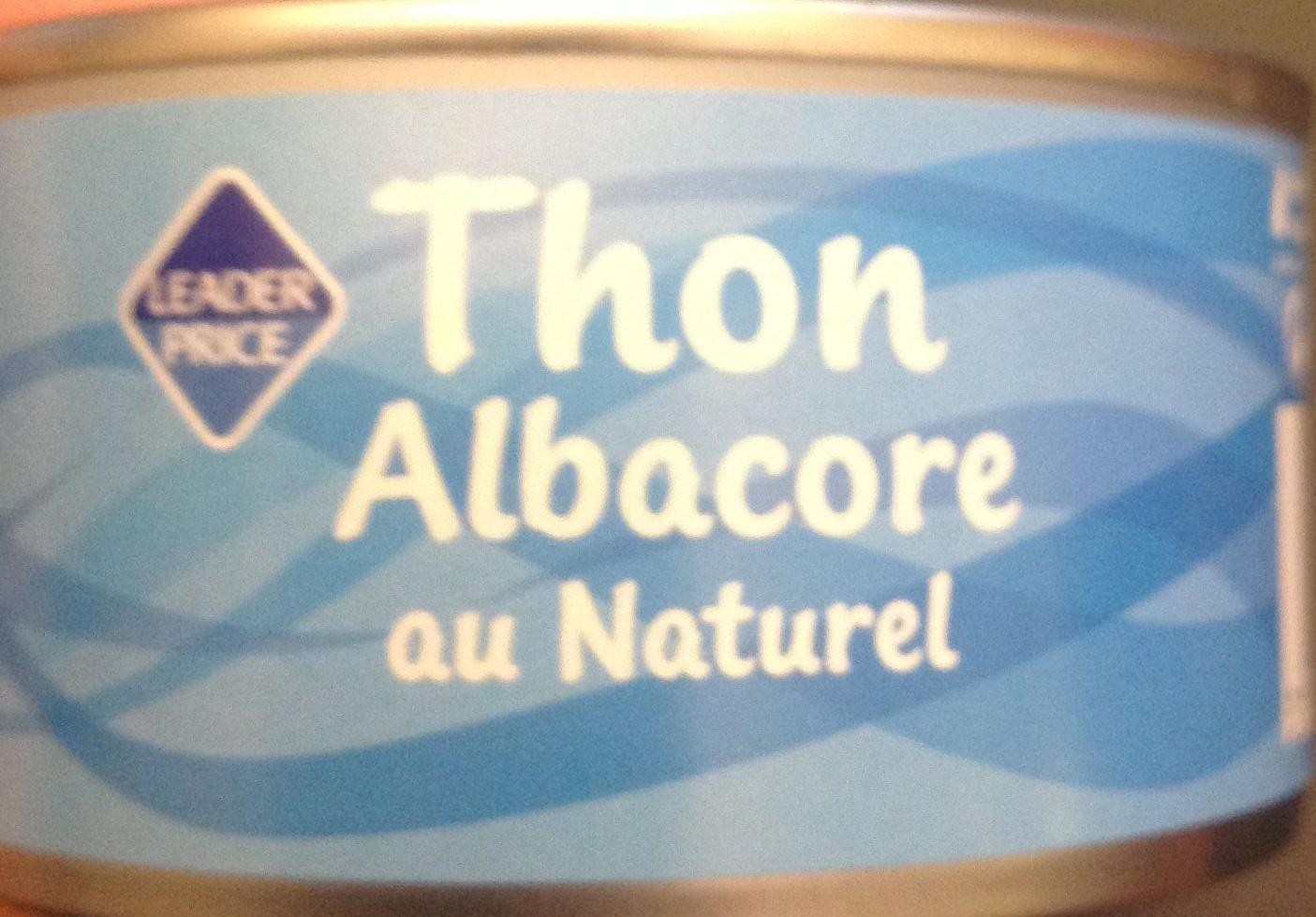 Thon (Albacore) au Naturel - Produit - fr