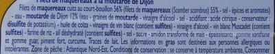 Filets de Maquereaux (à la Moutarde de Dijon) - Ingrédients - fr