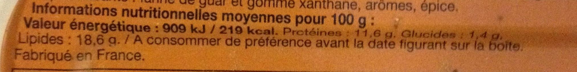 Filets de Maquereaux (Sauce Moutarde de Dijon) - Voedingswaarden - fr