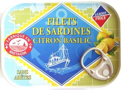 Filets de Sardines (Citron Basilic) - Product - fr