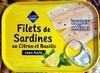 Filets de Sardines au Citron et Basilic sans huile - Produit