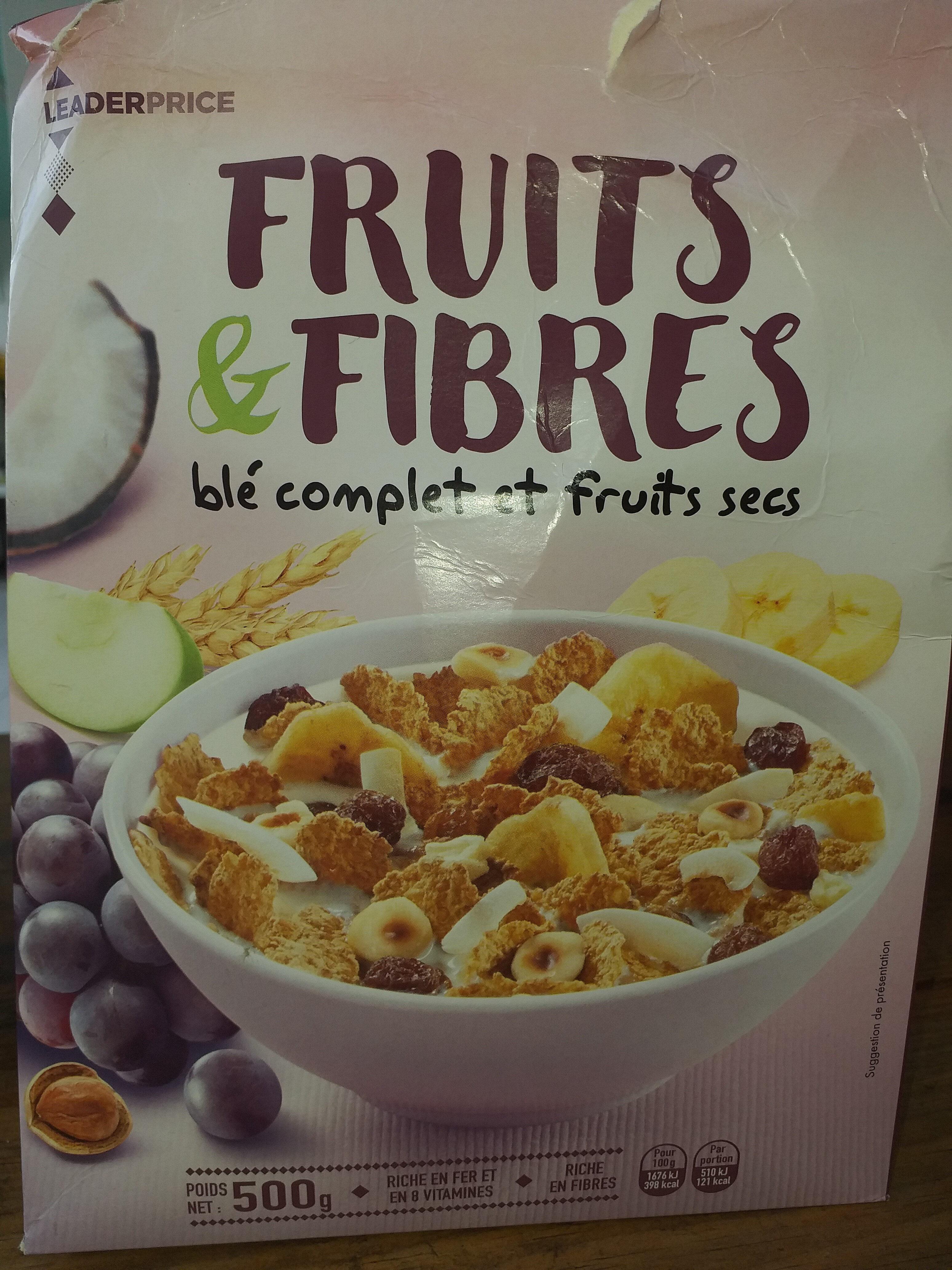 Fruits & fibres - Blé complet et fruits secs - Produit - fr