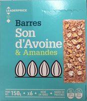 Barres Son d'avoine & Amandes - Product - fr