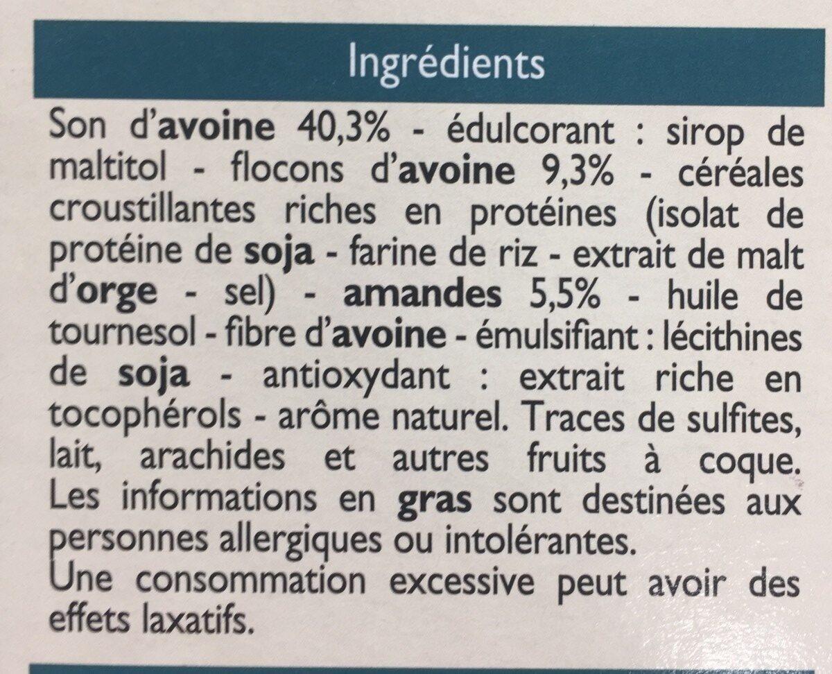 Barres Son d'avoine & Amandes - Ingrediënten - fr