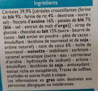 Barres céréalières - Ingrédients - fr