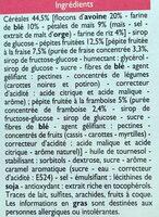 Barres céréalières - Ingrediënten