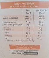 Pétale de Blé goût chocolat - Voedigswaarden