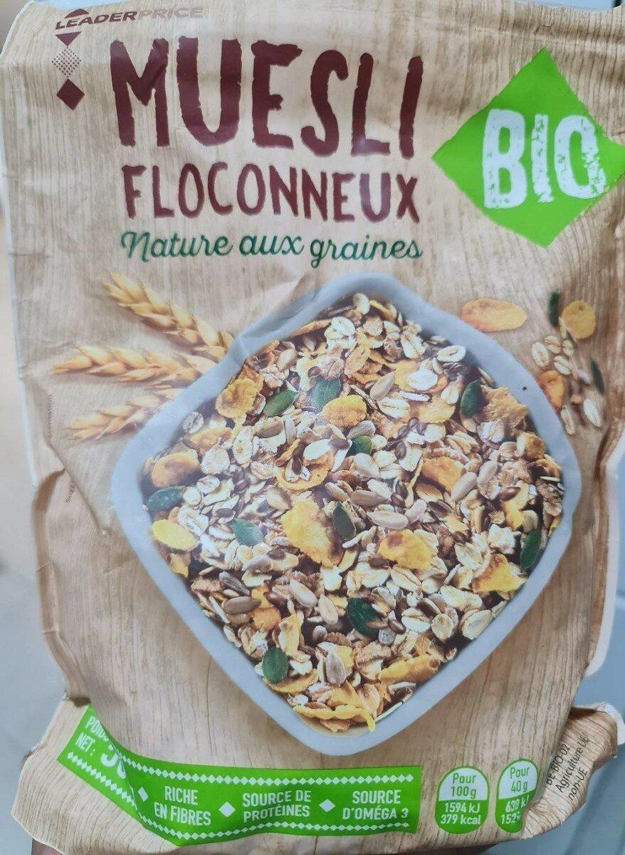 Muesli floconneux nature aux graines - Product - fr
