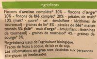 Muesli floconneux nature aux graines - Ingrédients - fr