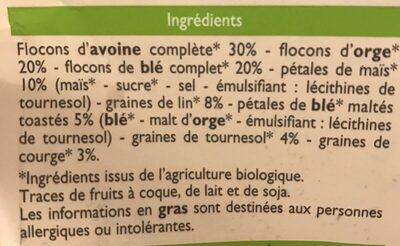 Muesli floconneux nature aux graines - Ingredients - fr