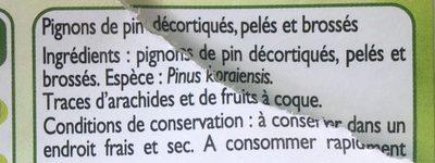 Pignons de pin - Ingrédients - fr