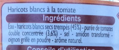 Haricots Blancs à la tomate - Ingrédients