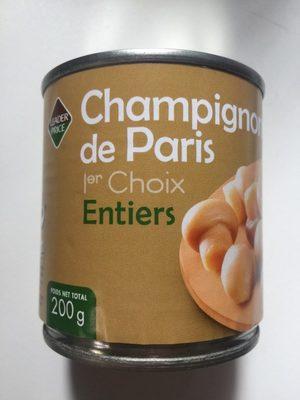 Champignons de Paris Entiers - Produit