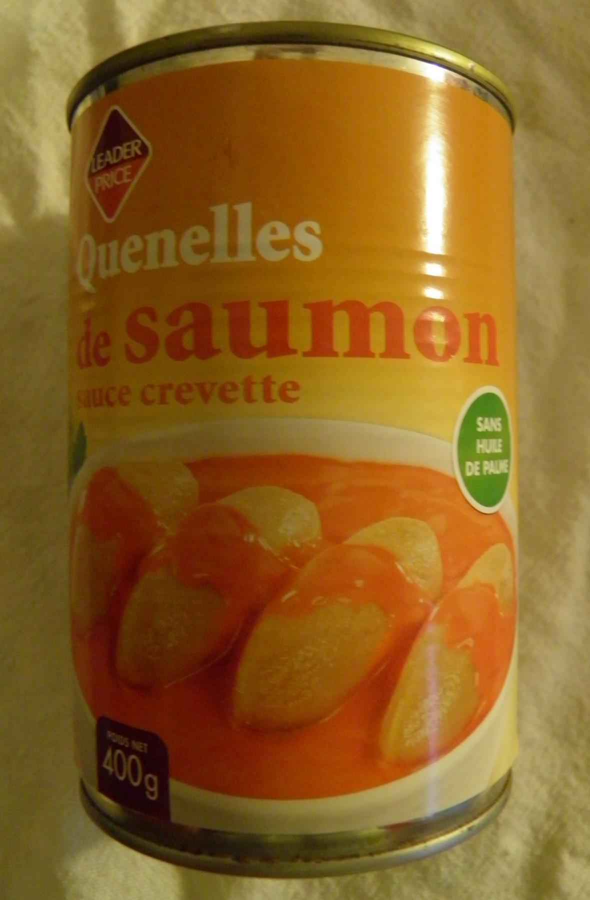 Quenelles de saumon sauce crevette Leader Price - Product - fr