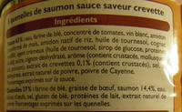 Quenelles de saumon sauce crevette Leader Price - Ingredients - fr