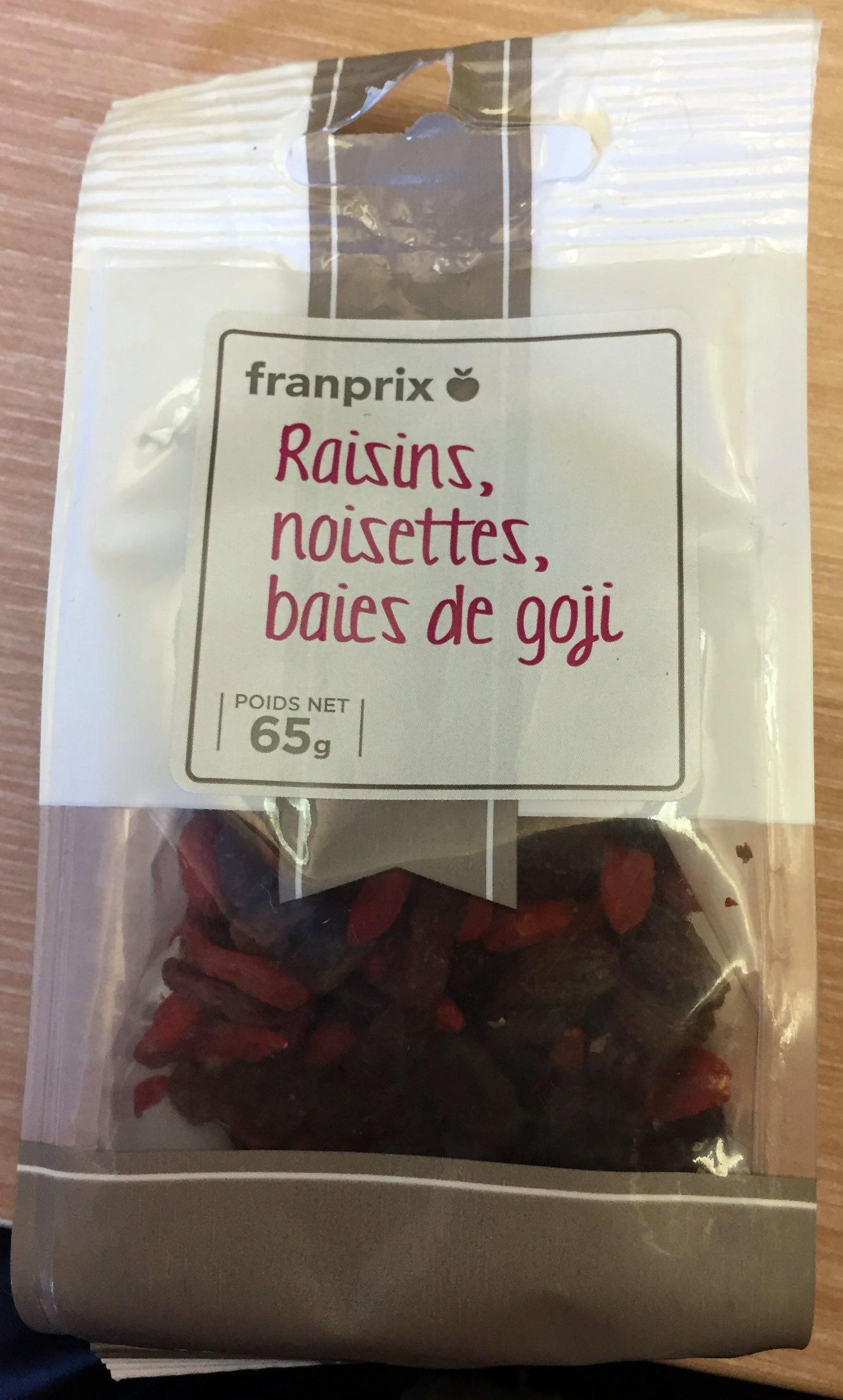 Raisins, Noisettes, Baies de Goji - Produit - fr