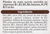 Pétales Maïs glacés au sucre - Ingrediënten