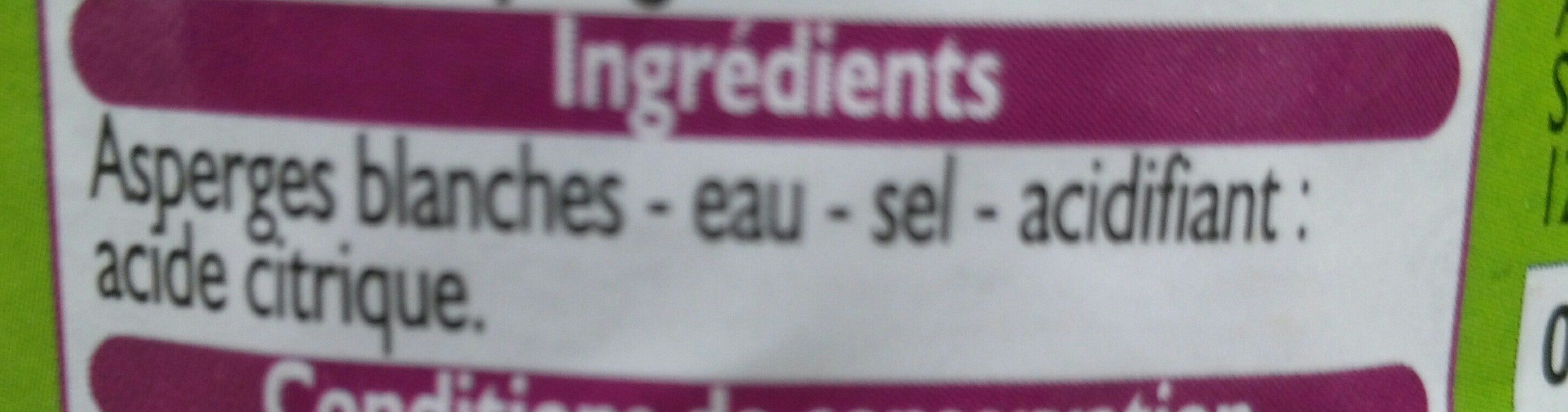 Pointes d'asperges pelées main - Ingrediënten