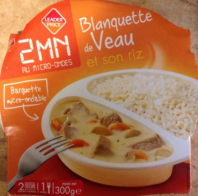 Blanquette de Veau et son riz - Produit - fr