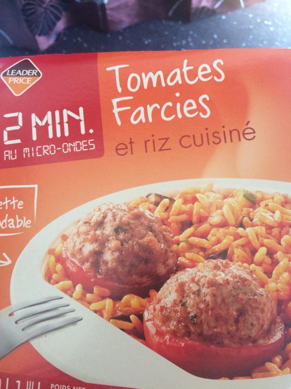tomates farcies et riz cuisiné - leader price - 300 g