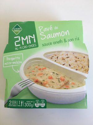 Pavé de saumon sauce Aneth et son riz - Producte - fr