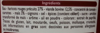 Chili con carne pur boeuf - Ingredients
