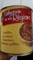 Saucisses lentilles canard - Produit - fr