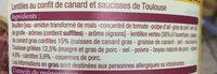 Saucisses lentilles canard - Ingrédients - fr