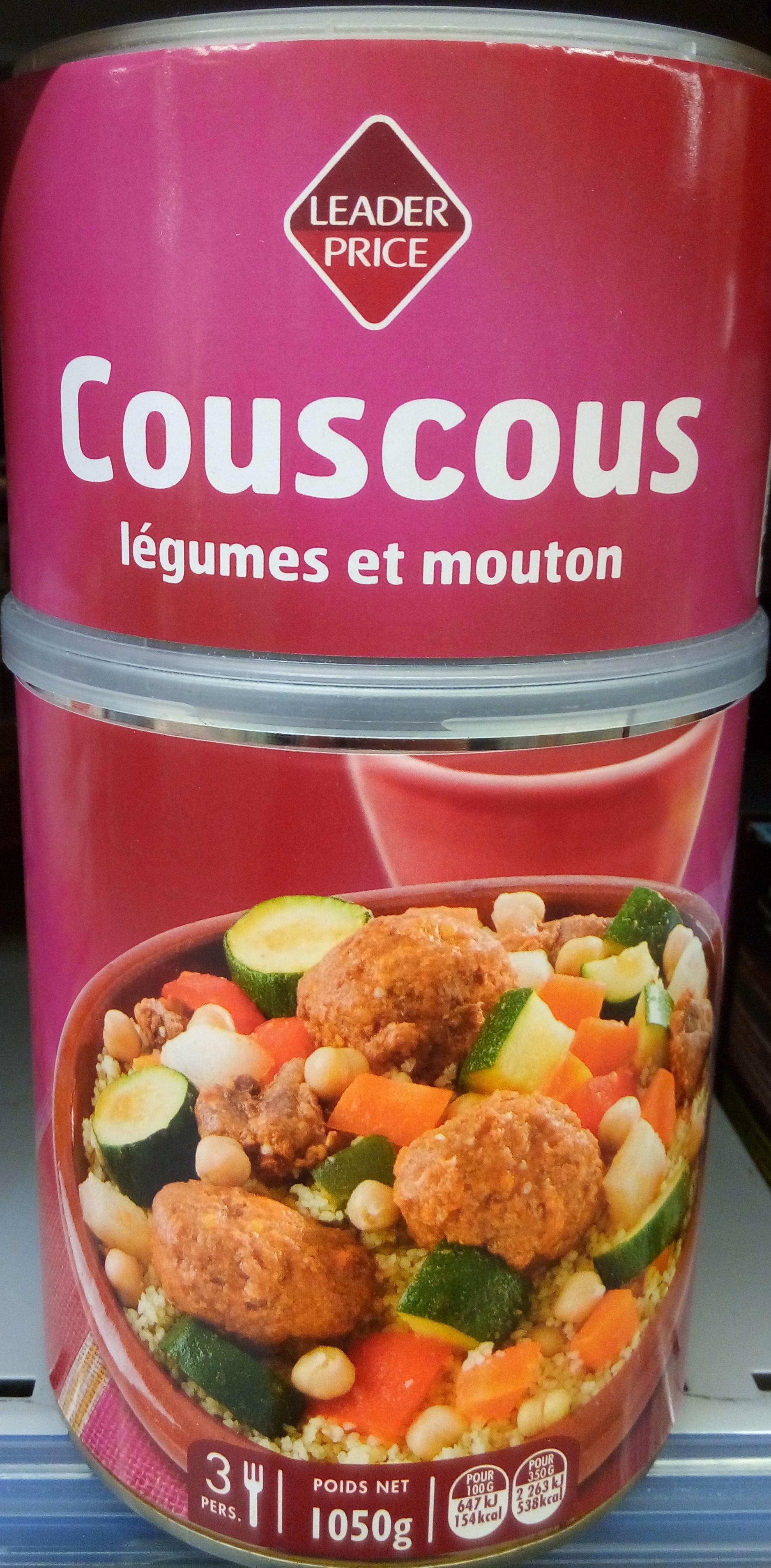 Couscous légumes et mouton - Produit - fr