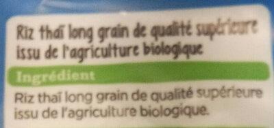 riz thai bio - Ingredienti - fr