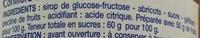 Confiture d'abricots - Ingrédients - fr